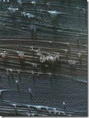 Glass bead medium over paint