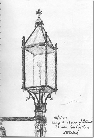 Lamp at Houses of Parliament
