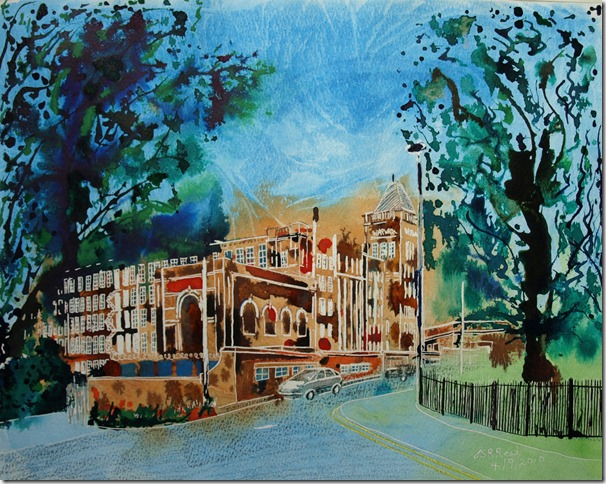 ©2010 Cathy Read -Warwick Mill - 40.6x50.8cm- mixed media on paper