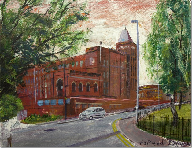 ©2010 Cathy Read -Warwick Mill - 40.6x50.8cm- mixed media collage on paper