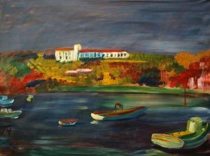 ©2010 Cathy Read- Sagres Harbour - 43x57cm